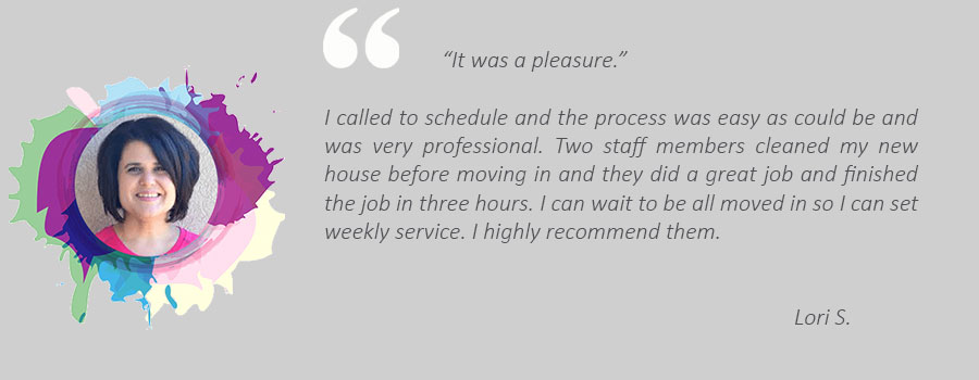House cleaning review from Lori
