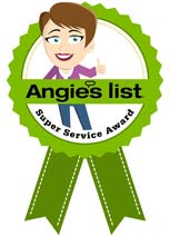 Maids by Trade's Super Service Award from Angieslist