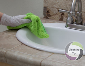 How to Clean Bathroom Countertops