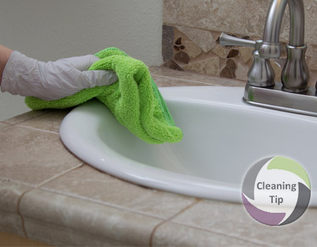 How To Clean The Bathroom Counter