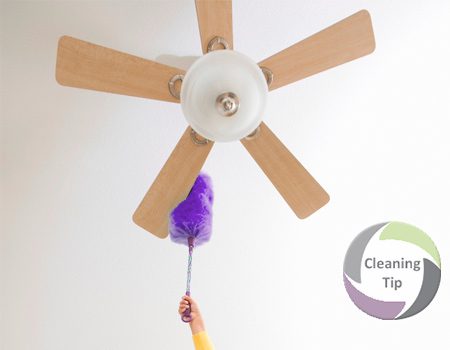 How to Clean Ceiling Fans and dusting