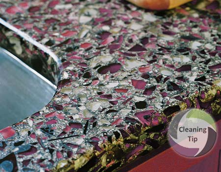 How to Clean Recycled Glass Countertops Maids By Trade