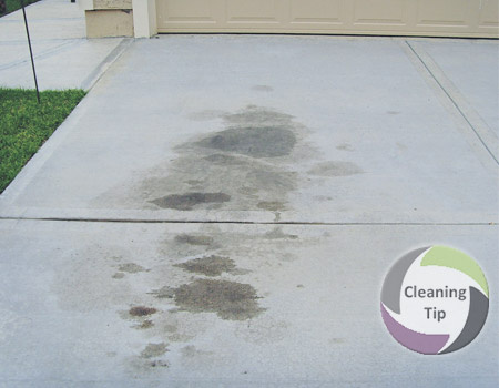 How to remove stains from concrete maids by trade for Removing grease stains from concrete