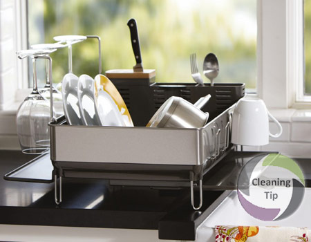 How To Clean A Dish Rack Maids By Trade