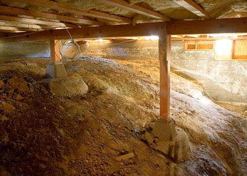 how to build a crawl space