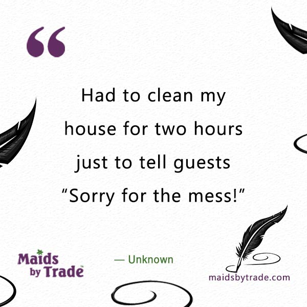 Sorry for the mess -Savvy Humor-messy